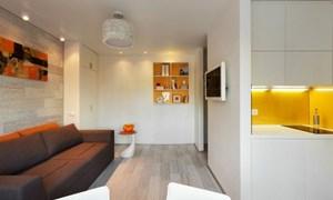 Thiết kế căn hộ ấn tượng với gam màu nắng