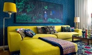 Làm đẹp căn phòng với sofa rực rỡ