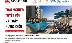 SeABank dành ưu đãi biệt tại các khách sạn cho chủ thẻ