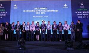 30 doanh nghiệp minh bạch nhất HNX 2016