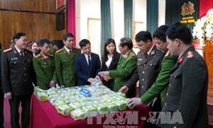 Biểu dương các đơn vị bắt giữ 45 kg ma túy tổng hợp