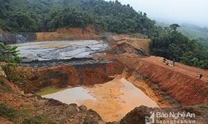 Khẩn trương xử lý vụ việc vỡ đập bùn thải khai thác thiếc tại Nghệ An
