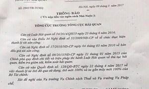 Cảnh báo hành vi giả mạo giấy tờ của cơ quan hải quan để lừa đảo góp vốn