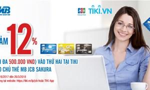 Chủ thẻ MB JCB Sakura có cơ hội được hưởng ngay ưu đãi giảm giá 12%