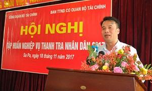 Bộ Tài chính tổ chức tập huấn công tác thanh tra nhân dân năm 2017