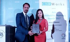 Bảo Việt đạt giải Báo cáo phát triển bền vững tốt nhất châu Á năm 2017