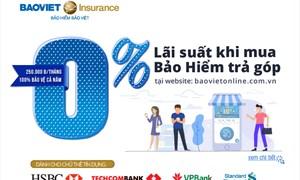 """""""Chi phí chia nhỏ, an toàn vẹn nguyên"""" ưu đãi mua bảo hiểm trả góp với lãi suất 0% của Bảo hiểm Bảo Việt"""