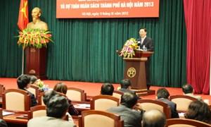TP. Hà Nội: Giao dự toán thu – chi NSNN năm 2013