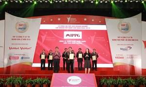 IPPG lọt vào danh sách 500 Doanh nghiệp lợi nhuận tốt nhất Việt Nam 2018