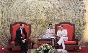 Tổng cục trưởng Nguyễn Ngọc Túc tiếp xã giao Tổng cục trưởng Tổng cục Hải quan Singapore