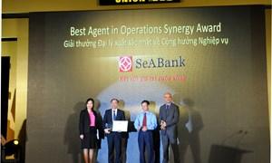 SeABank được Western Union khu vực Đông Dương trao tặng 2 giải thưởng