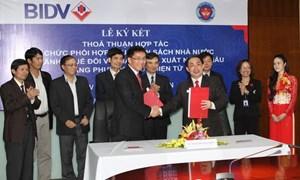 Sẽ phối hợp thu Ngân sách Nhà nước qua ngân hàng tại 34 cục Hải quan