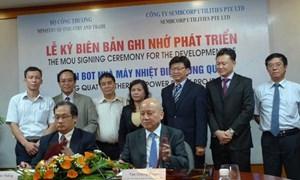 Sembcorp phát triển Dự án BOT Nhiệt điện Dung Quất