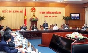 Ủy ban Thường vụ Quốc hội cho ý kiến Luật Hải quan (sửa đổi)
