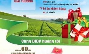 BIDV khuyến mại lớn nhân kỷ niệm 60 năm chiến thắng Điện Biên