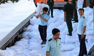 Bắt giữ 75 tấn đường nghi nhập lậu