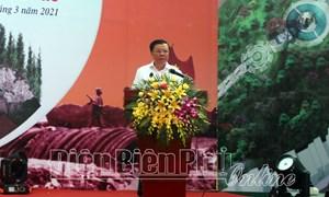 Bộ trưởng Đinh Tiến Dũng dự lễ khởi công Đền thờ liệt sỹ tại chiến trường Điện Biên Phủ
