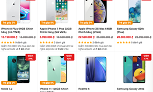 Nhiều smartphone giảm giá mạnh