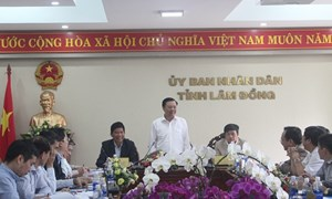 Bộ trưởng Bộ Tài chính Đinh Tiến Dũng làm việc tại Lâm Đồng