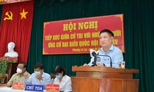Bộ trưởng Bộ Tài chính Hồ Đức Phớc tiếp xúc cử tri tại TP. Quy Nhơn, tỉnh Bình Định