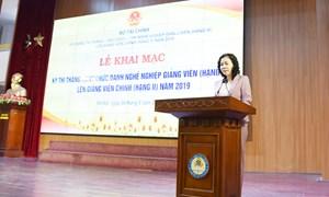 Bộ Tài chính tổ chức thi thăng hạng chức danh nghề nghiệp giảng viên lên giảng viên chính năm 2019