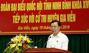 Bộ trưởng Bộ Tài chính Đinh Tiến Dũng tiếp xúc cử tri tỉnh Ninh Bình