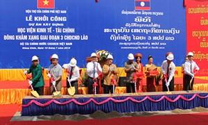 Dự án Học viện Kinh tế - Tài chính Dongkhamxang giai đoạn 3 chính thức khởi công