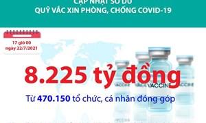 [Infographics] Quỹ Vắc xin phòng, chống Covid-19 đã tiếp nhận ủng hộ 8.225 tỷ đồng