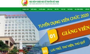 Học viện Y - Dược học cổ truyền Việt Nam tuyển dụng viên chức năm 2020