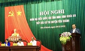 Bộ trưởng Đinh Tiến Dũng tiếp xúc cử tri huyện Yên Khánh, Ninh Bình