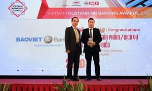 BAOVIET Bank nhận giải thưởng Ngân hàng Việt Nam tiêu biểu năm 2020
