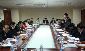 Ban Kinh tế Trung ương làm việc với tỉnh Cao Bằng