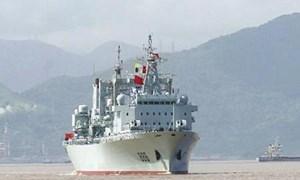 Trung Quốc sắp đưa tàu tiếp tế lớn nhất ra Biển Đông