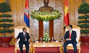 Chủ tịch Quốc hội Samdech Heng Samrin: Việt Nam là đối tác kinh tế hàng đầu của Campuchia