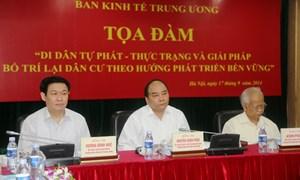 Ban Kinh tế Trung ương tham vấn ý kiến chuyên gia về di cư tự phát