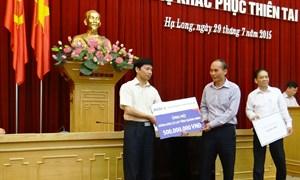 BIDV hỗ trợ 500 triệu đồng khắc phục thiệt hại do mưa lũ tại Quảng Ninh