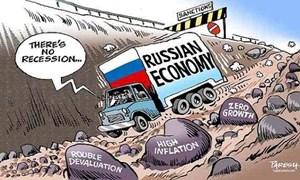 Dự báo kinh tế Nga tăng trưởng âm trong năm 2015