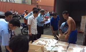 Tịch thu 3 container thuốc lá xuất khẩu giả mạo chỉ dẫn xuất xứ