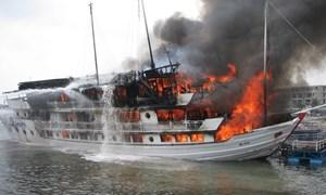 Kịp thời chi trả bảo hiểm cho tàu du lịch bị cháy tại cảng Tuần Châu