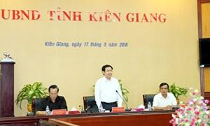 Phó Thủ tướng Chính phủ Vương Đình Huệ làm việc tại tỉnh Kiên Giang