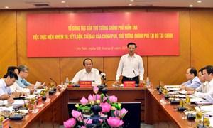 Bộ Tài chính thực hiện hiệu quả chỉ đạo của Chính phủ, Thủ tướng Chính phủ