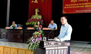 Bộ trưởng Đinh Tiến Dũng tiếp xúc cử tri huyện Nho Quan, Ninh Bình