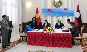Ký kết thỏa thuận Xây dựng Học viện tài chính Dongkhamxang giai đoạn 3