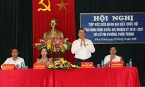 Bộ trưởng Đinh Tiến Dũng tiếp xúc cử tri TP. Ninh Bình