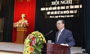 Bộ trưởng Đinh Tiến Dũng tiếp xúc cử tri huyện Gia Viễn và Hoa Lư