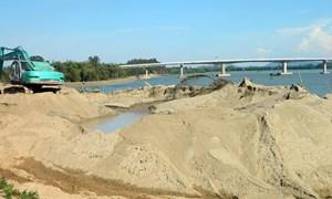 Ngăn chặn hoạt động khai thác, kinh doanh cát, sỏi trái phép
