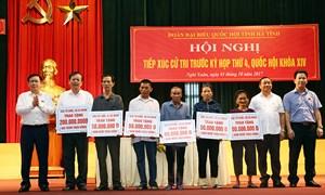 Phó Thủ tướng Vương Đình Huệ tiếp xúc cử tri huyện Hương Sơn và Nghi Xuân