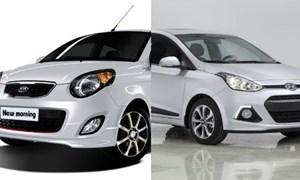 Ô tô 300 triệu: Nên mua Hyundai i10 hay Kia Morning?