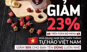 Hàng quán đua giảm giá ăn theo U23 Việt Nam