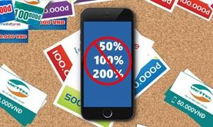 Từ 1/3, dừng khuyến mại 50% cho thuê bao di động trả trước